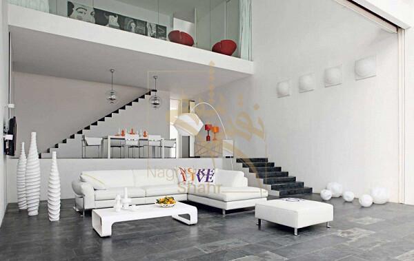 نمونه ای از طراحی مسکونی با پلان باز